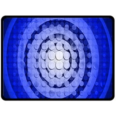 Abstract Background Blue Created With Layers Double Sided Fleece Blanket (Large)