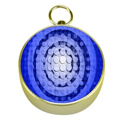 Abstract Background Blue Created With Layers Gold Compasses