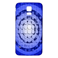 Abstract Background Blue Created With Layers Samsung Galaxy S5 Back Case (White)