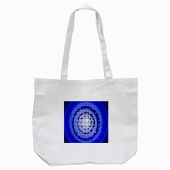 Abstract Background Blue Created With Layers Tote Bag (White)