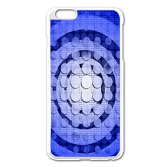 Abstract Background Blue Created With Layers Apple iPhone 6 Plus/6S Plus Enamel White Case