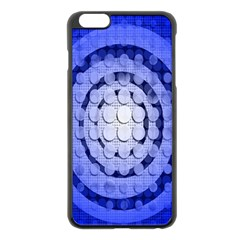 Abstract Background Blue Created With Layers Apple iPhone 6 Plus/6S Plus Black Enamel Case