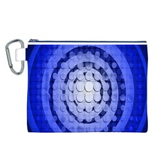Abstract Background Blue Created With Layers Canvas Cosmetic Bag (l)