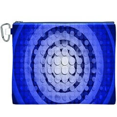 Abstract Background Blue Created With Layers Canvas Cosmetic Bag (xxxl)