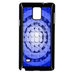 Abstract Background Blue Created With Layers Samsung Galaxy Note 4 Case (Black)