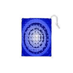Abstract Background Blue Created With Layers Drawstring Pouches (xs)