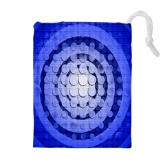Abstract Background Blue Created With Layers Drawstring Pouches (extra Large)