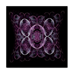 Fractal In Lovely Swirls Of Purple And Blue Tile Coasters