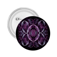 Fractal In Lovely Swirls Of Purple And Blue 2.25  Buttons