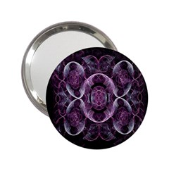 Fractal In Lovely Swirls Of Purple And Blue 2.25  Handbag Mirrors