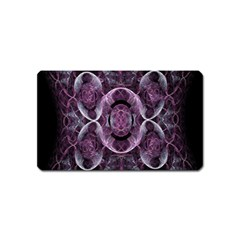 Fractal In Lovely Swirls Of Purple And Blue Magnet (name Card)