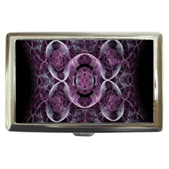 Fractal In Lovely Swirls Of Purple And Blue Cigarette Money Cases