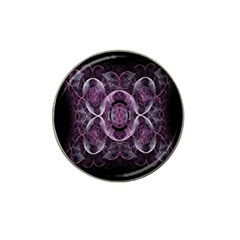 Fractal In Lovely Swirls Of Purple And Blue Hat Clip Ball Marker (4 Pack)