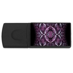 Fractal In Lovely Swirls Of Purple And Blue Usb Flash Drive Rectangular (4 Gb)