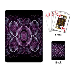Fractal In Lovely Swirls Of Purple And Blue Playing Card