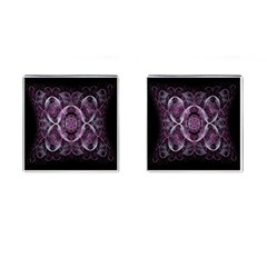 Fractal In Lovely Swirls Of Purple And Blue Cufflinks (square)