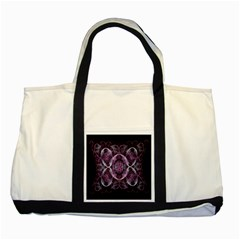 Fractal In Lovely Swirls Of Purple And Blue Two Tone Tote Bag