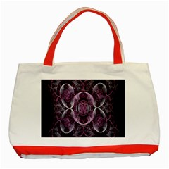 Fractal In Lovely Swirls Of Purple And Blue Classic Tote Bag (red)