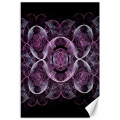 Fractal In Lovely Swirls Of Purple And Blue Canvas 12  X 18
