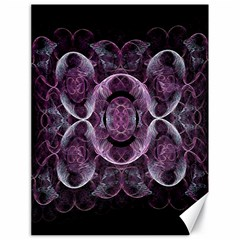 Fractal In Lovely Swirls Of Purple And Blue Canvas 18  X 24
