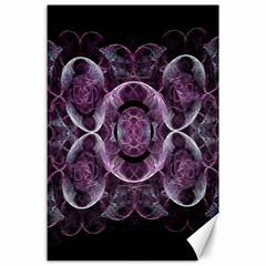 Fractal In Lovely Swirls Of Purple And Blue Canvas 24  X 36
