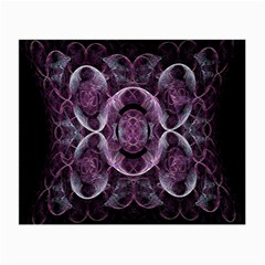 Fractal In Lovely Swirls Of Purple And Blue Small Glasses Cloth (2 Side)