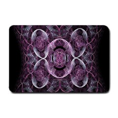 Fractal In Lovely Swirls Of Purple And Blue Small Doormat