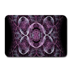 Fractal In Lovely Swirls Of Purple And Blue Plate Mats