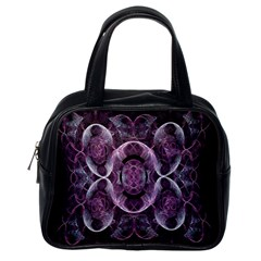 Fractal In Lovely Swirls Of Purple And Blue Classic Handbags (one Side)