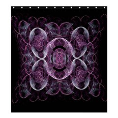 Fractal In Lovely Swirls Of Purple And Blue Shower Curtain 66  X 72  (large)