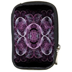 Fractal In Lovely Swirls Of Purple And Blue Compact Camera Cases