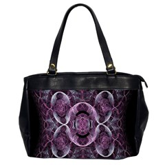 Fractal In Lovely Swirls Of Purple And Blue Office Handbags (2 Sides)