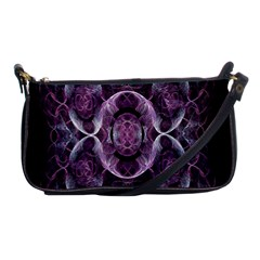 Fractal In Lovely Swirls Of Purple And Blue Shoulder Clutch Bags