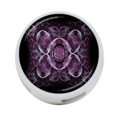 Fractal In Lovely Swirls Of Purple And Blue 4 Port Usb Hub (two Sides)
