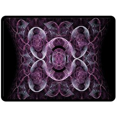 Fractal In Lovely Swirls Of Purple And Blue Fleece Blanket (large)