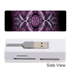 Fractal In Lovely Swirls Of Purple And Blue Memory Card Reader (Stick)