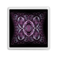 Fractal In Lovely Swirls Of Purple And Blue Memory Card Reader (square)