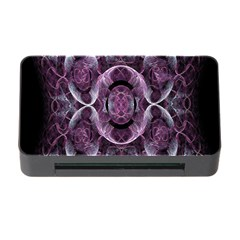 Fractal In Lovely Swirls Of Purple And Blue Memory Card Reader with CF