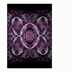 Fractal In Lovely Swirls Of Purple And Blue Small Garden Flag (two Sides)