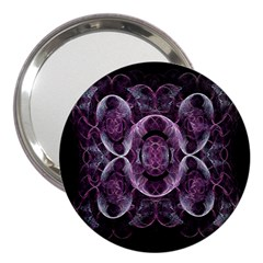 Fractal In Lovely Swirls Of Purple And Blue 3  Handbag Mirrors