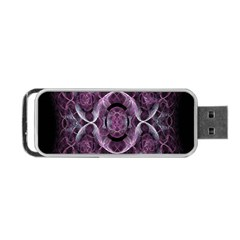 Fractal In Lovely Swirls Of Purple And Blue Portable Usb Flash (one Side)