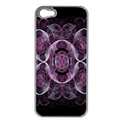 Fractal In Lovely Swirls Of Purple And Blue Apple iPhone 5 Case (Silver)