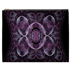 Fractal In Lovely Swirls Of Purple And Blue Cosmetic Bag (xxxl)