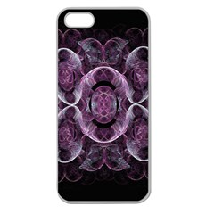 Fractal In Lovely Swirls Of Purple And Blue Apple Seamless iPhone 5 Case (Clear)