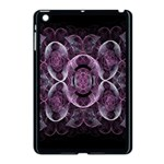 Fractal In Lovely Swirls Of Purple And Blue Apple iPad Mini Case (Black) Front