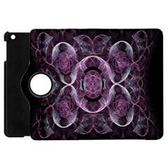 Fractal In Lovely Swirls Of Purple And Blue Apple iPad Mini Flip 360 Case