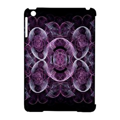 Fractal In Lovely Swirls Of Purple And Blue Apple iPad Mini Hardshell Case (Compatible with Smart Cover)