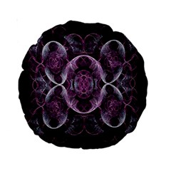 Fractal In Lovely Swirls Of Purple And Blue Standard 15  Premium Round Cushions