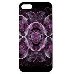 Fractal In Lovely Swirls Of Purple And Blue Apple iPhone 5 Hardshell Case with Stand