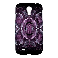 Fractal In Lovely Swirls Of Purple And Blue Samsung Galaxy S4 I9500/i9505 Hardshell Case